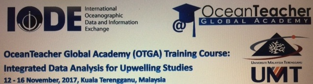 12 - 16 Nov 2017  OTGA-INOS/UMT Training Course: Integrated Data Analysis for Upwelling Studies