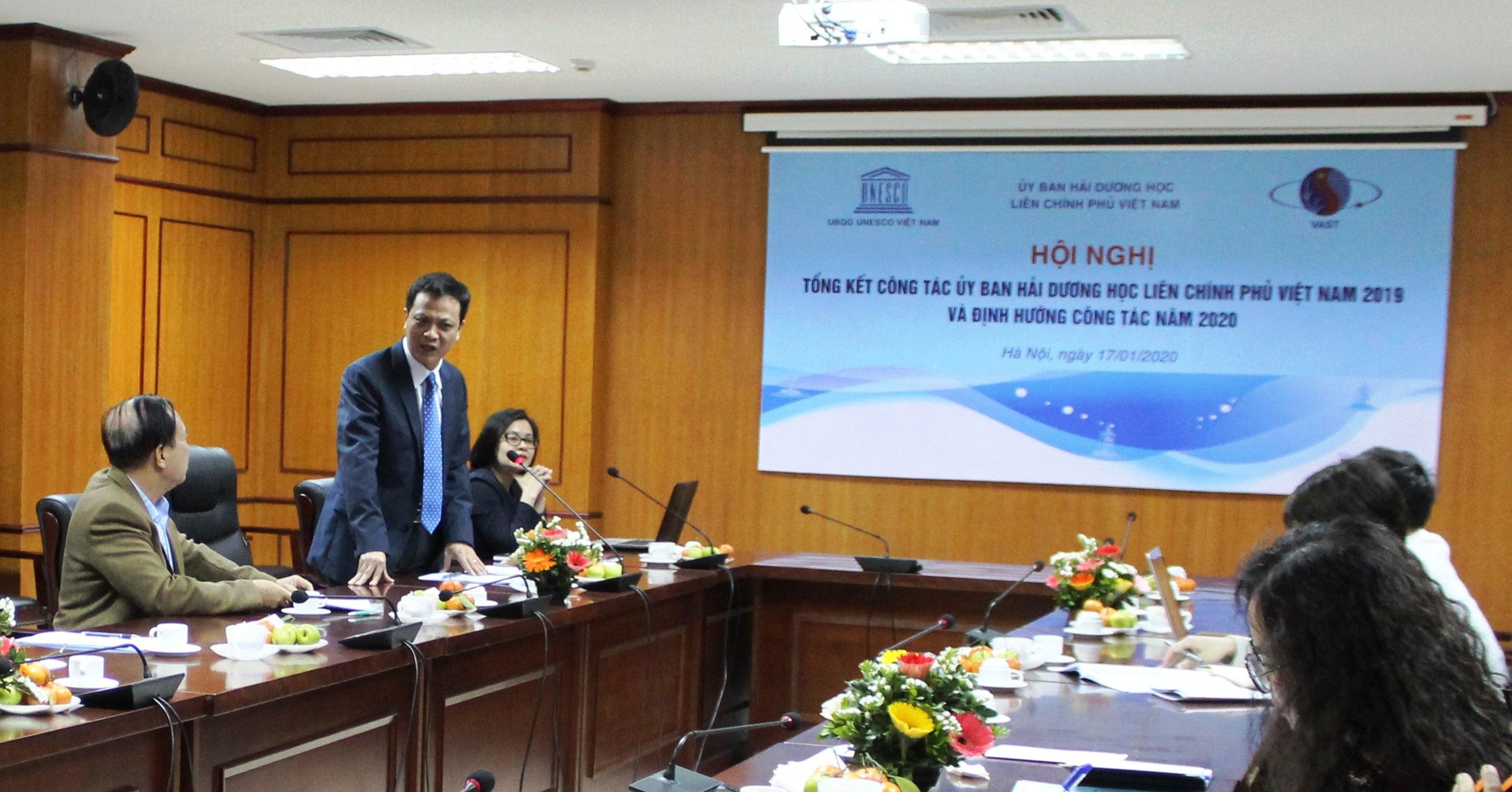 Ủy ban Hải dương học Liên chính phủ Việt Nam họp tổng kết hoạt động năm 2019, thảo luận phương hướng nhiệm vụ năm 2020