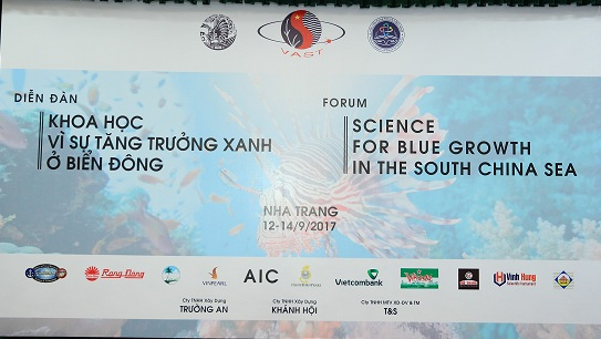 Science for Blue Growth in the South China Sea